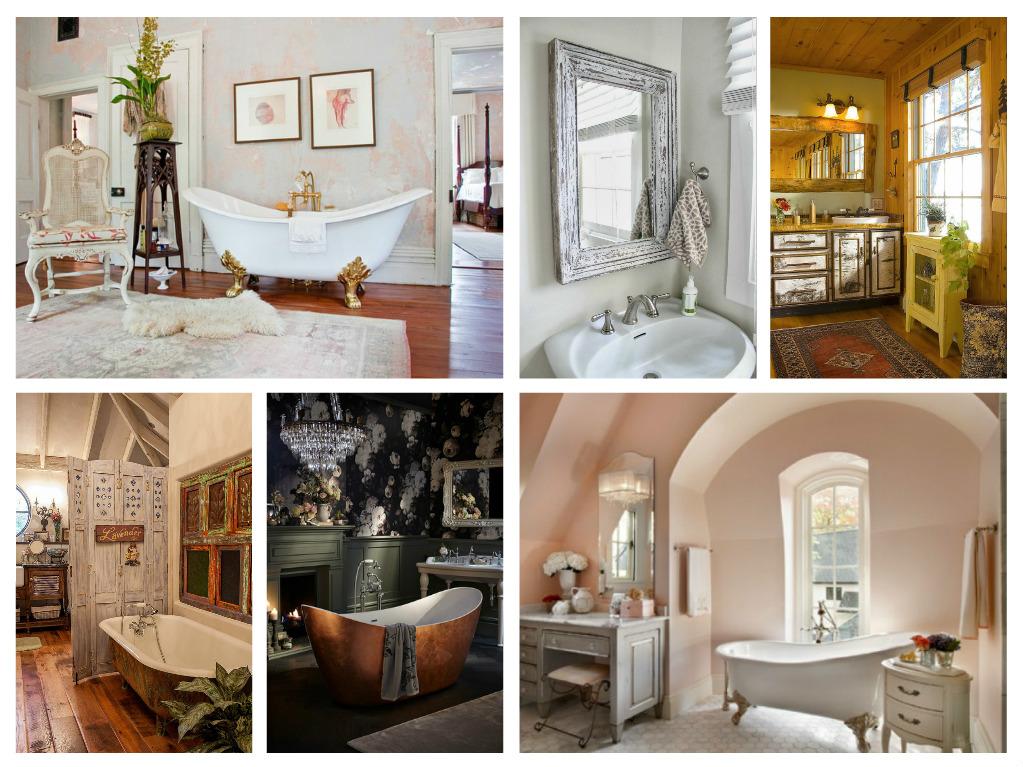 Ρομαντισμός και ευαισθησία στο μπάνιο - 50 μαγευτικά σχέδια Shabby Chic