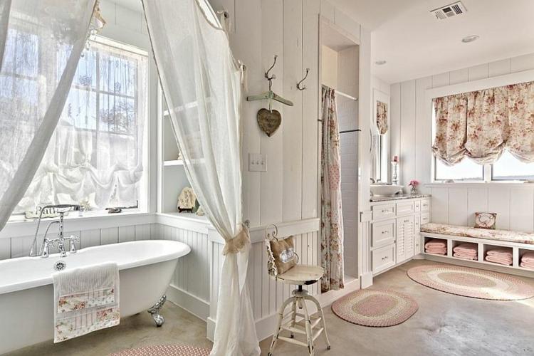 Shabby chic μπάνιο ιδέες2