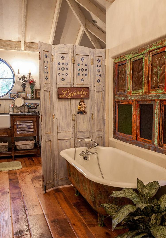 Shabby chic μπάνιο ιδέες25