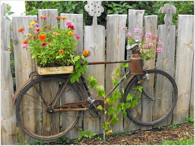 διακόσμηση κήπου με ποδήλατα13