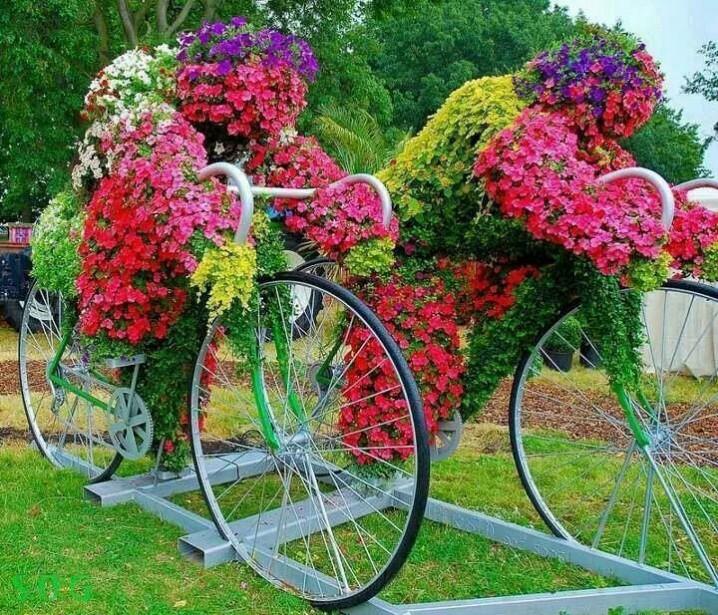 διακόσμηση κήπου με ποδήλατα18