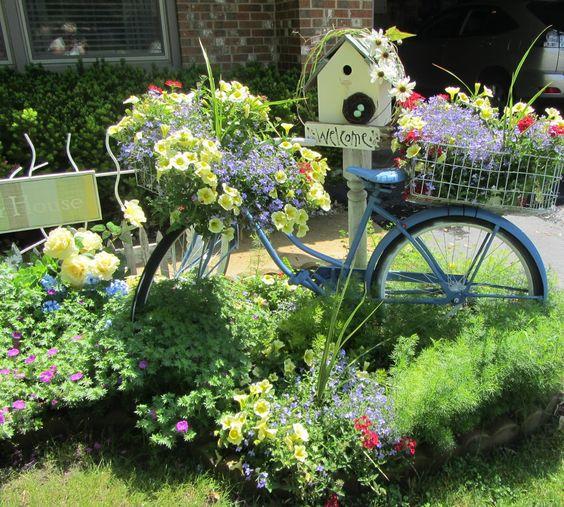 διακόσμηση κήπου με ποδήλατα19