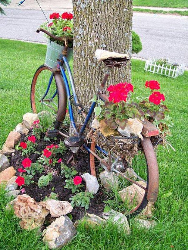 διακόσμηση κήπου με ποδήλατα4