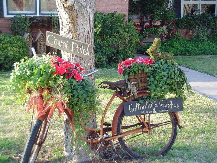 διακόσμηση κήπου με ποδήλατα8