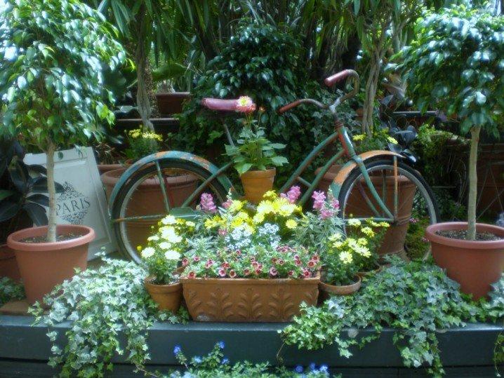 διακόσμηση κήπου με ποδήλατα9