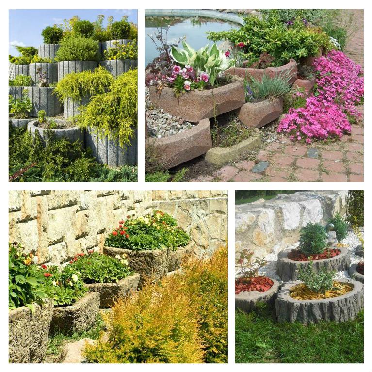 Μπετόν ζαρντινιέρες κήπου