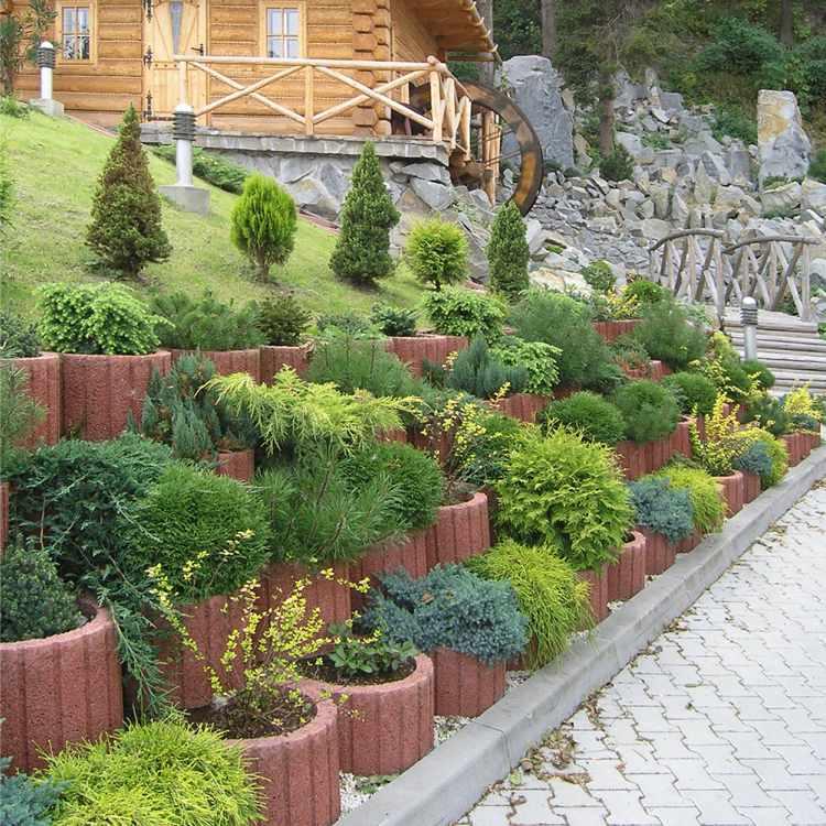 Μπετόν ζαρντινιέρες κήπου18