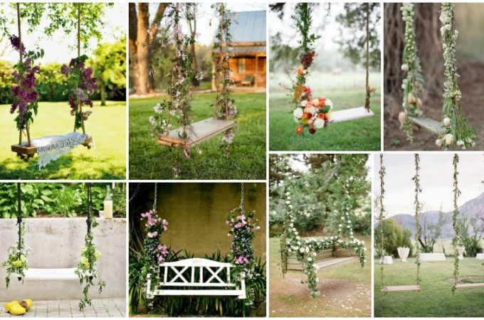 Ανθοστολισμένες κούνιες για την πιο ρομαντική διακόσμηση κήπου