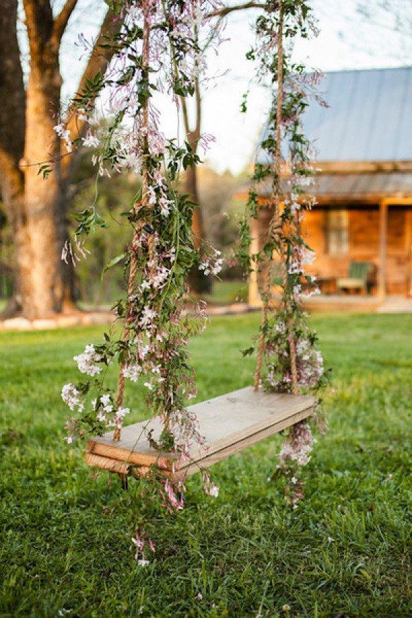 ιδέες διακόσμησης κούνιας με λουλούδια1