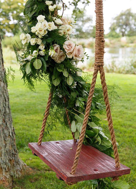 ιδέες διακόσμησης κούνιας με λουλούδια13