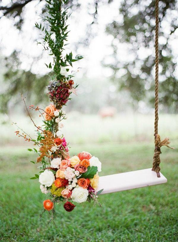 ιδέες διακόσμησης κούνιας με λουλούδια3