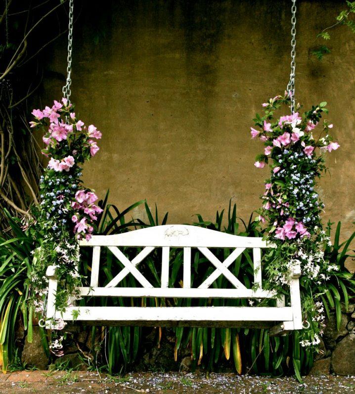 ιδέες διακόσμησης κούνιας με λουλούδια4