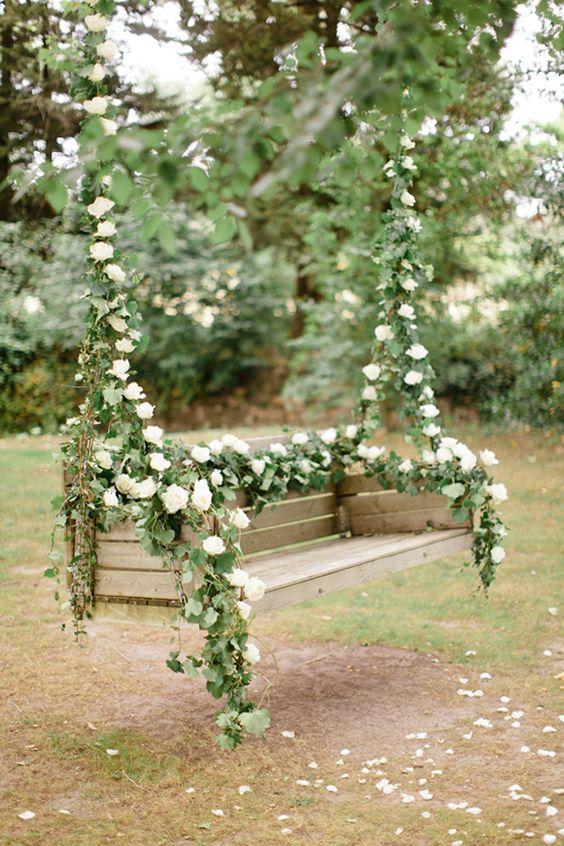 ιδέες διακόσμησης κούνιας με λουλούδια5