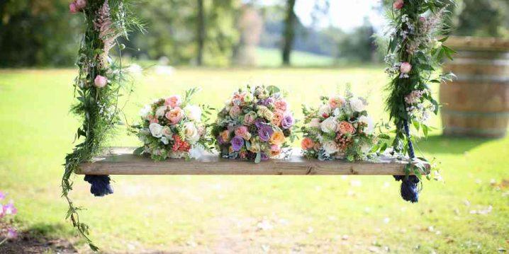 ιδέες διακόσμησης κούνιας με λουλούδια6