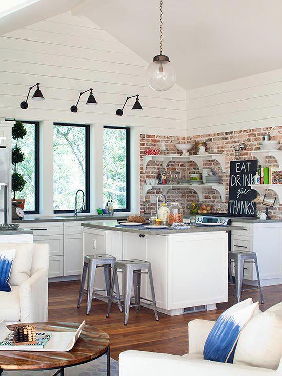 ιδέες με πέτρες, τούβλα και βότσαλα για τοίχους κουζίνας13