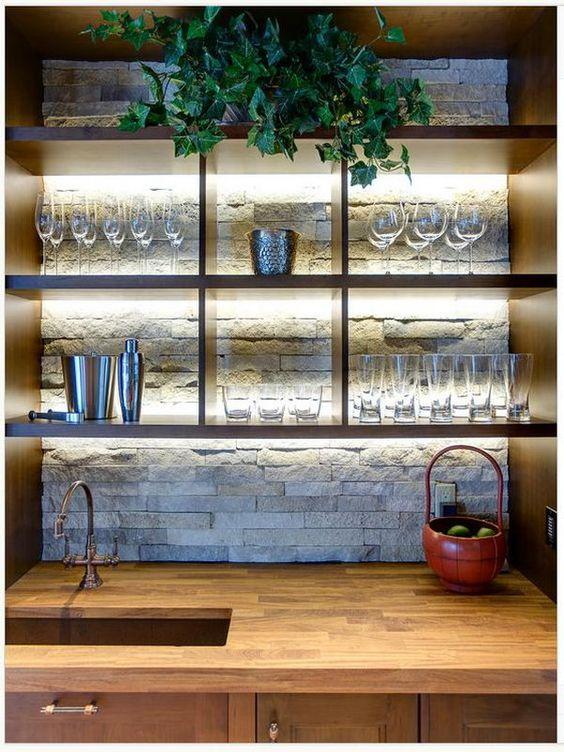 ιδέες με πέτρες, τούβλα και βότσαλα για τοίχους κουζίνας2