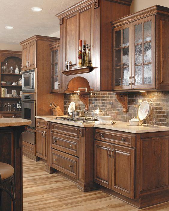 ιδέες με πέτρες, τούβλα και βότσαλα για τοίχους κουζίνας22