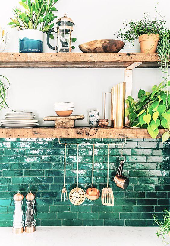 ιδέες με πέτρες, τούβλα και βότσαλα για τοίχους κουζίνας24