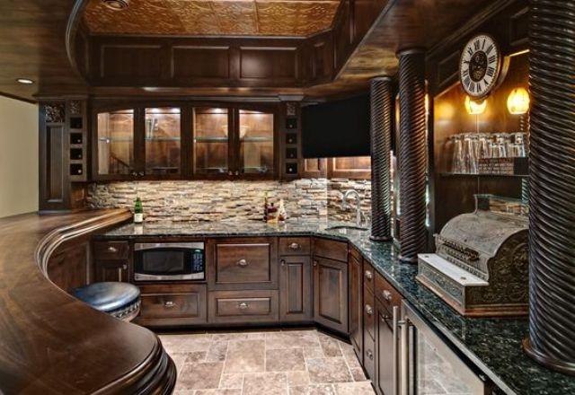 ιδέες με πέτρες, τούβλα και βότσαλα για τοίχους κουζίνας27