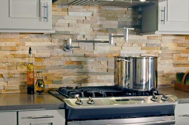 ιδέες με πέτρες, τούβλα και βότσαλα για τοίχους κουζίνας3
