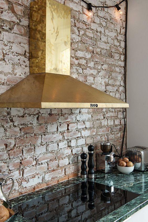 ιδέες με πέτρες, τούβλα και βότσαλα για τοίχους κουζίνας4