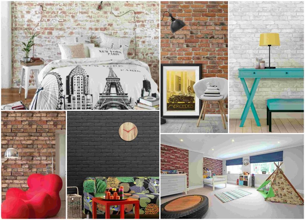 Ταπετσαρίες με μοτίβα από τούβλα 45 υπέροχες ιδέες για τους τοίχους σας