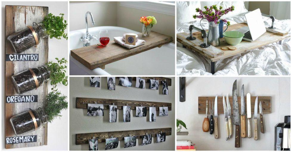DIY Ρουστίκ έργα από ξύλο