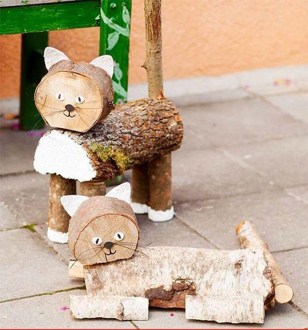 διακοσμήσεις κήπου με ξύλινα καφάσια και κορμούς δέντρου8