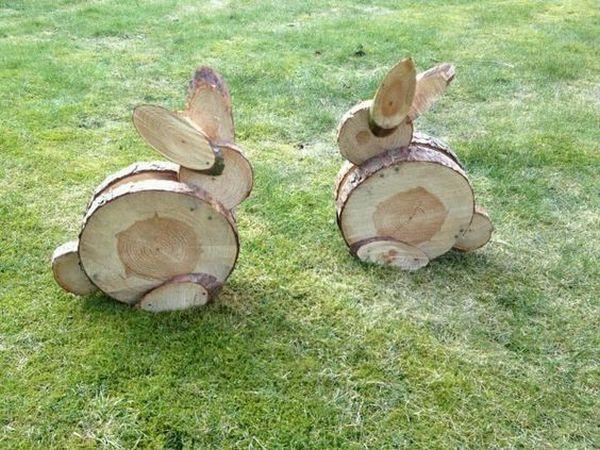 διακοσμήσεις κήπου με ξύλινα καφάσια και κορμούς δέντρου9
