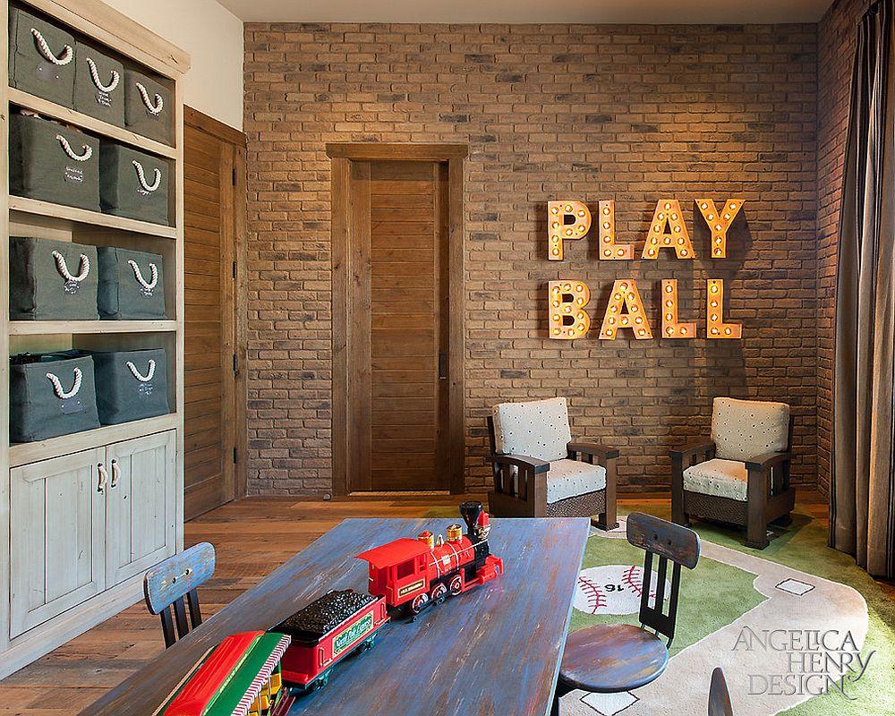 παιδικά δωμάτια με τοίχους από τούβλα11
