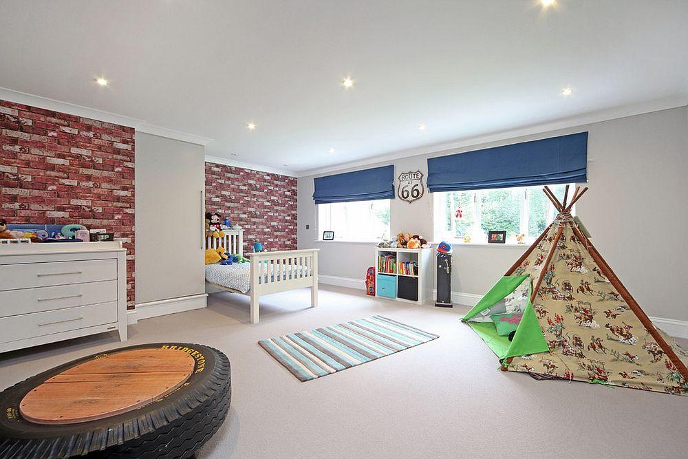 παιδικά δωμάτια με τοίχους από τούβλα12