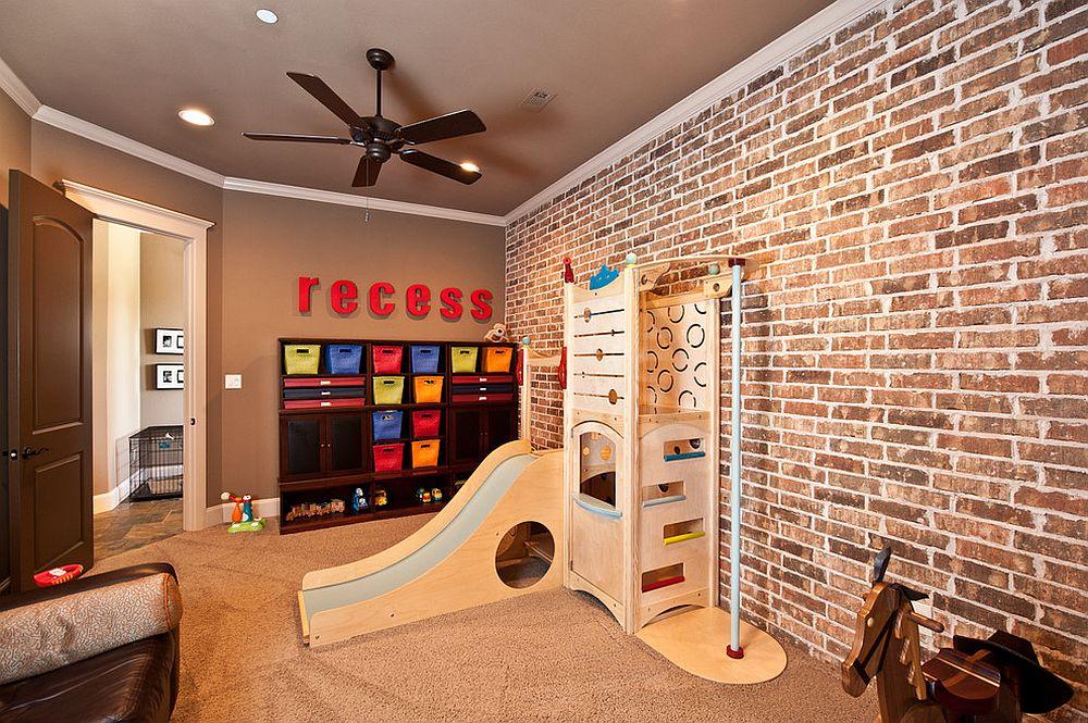 παιδικά δωμάτια με τοίχους από τούβλα13