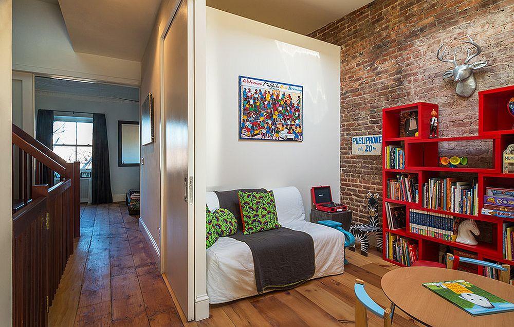 παιδικά δωμάτια με τοίχους από τούβλα14