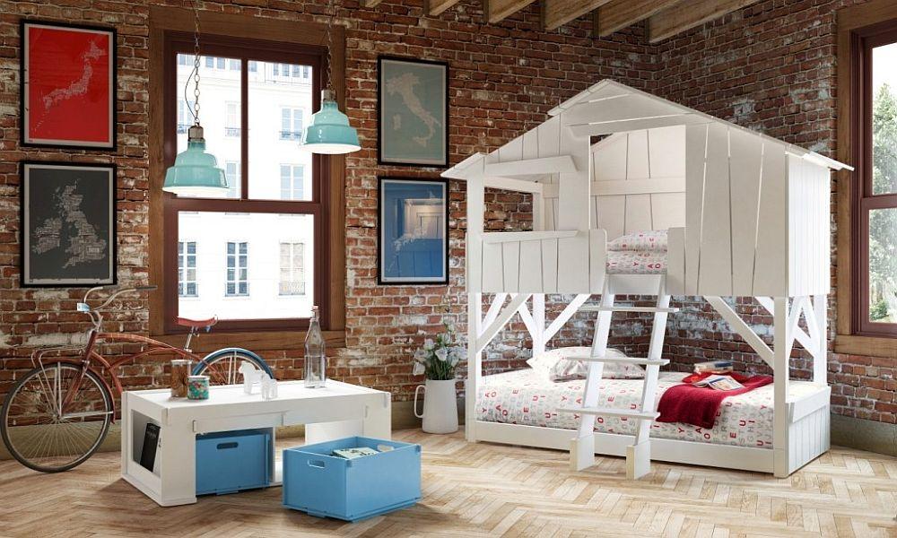 παιδικά δωμάτια με τοίχους από τούβλα15