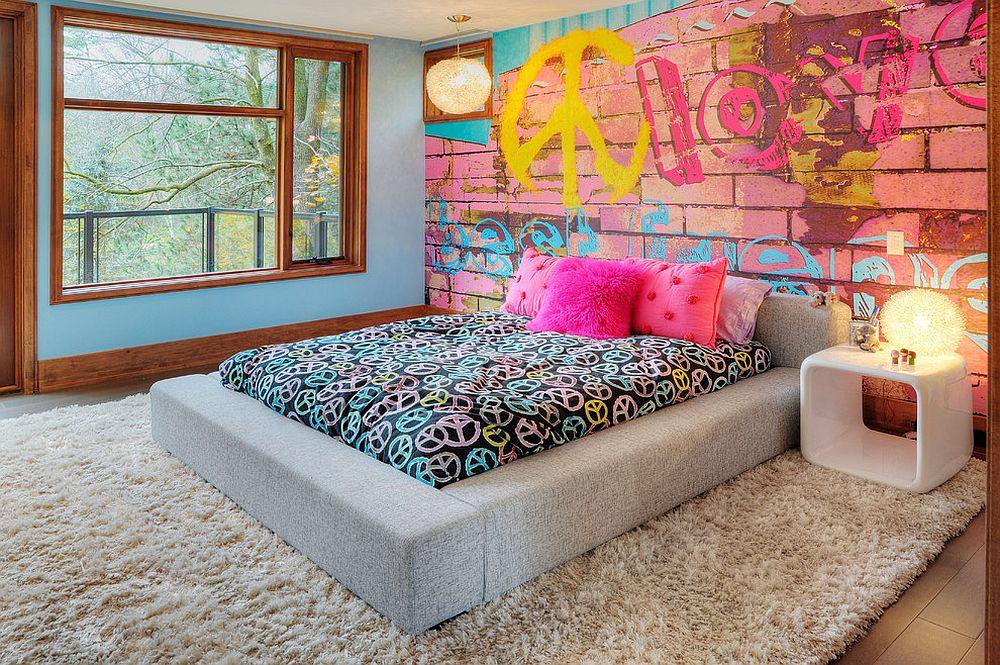 παιδικά δωμάτια με τοίχους από τούβλα16