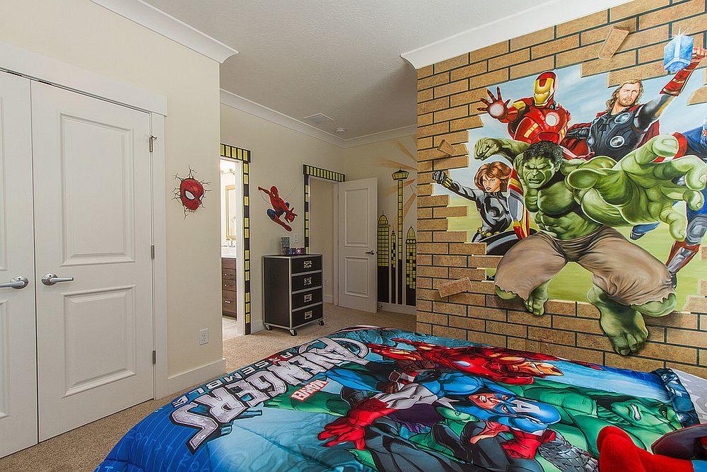 παιδικά δωμάτια με τοίχους από τούβλα17