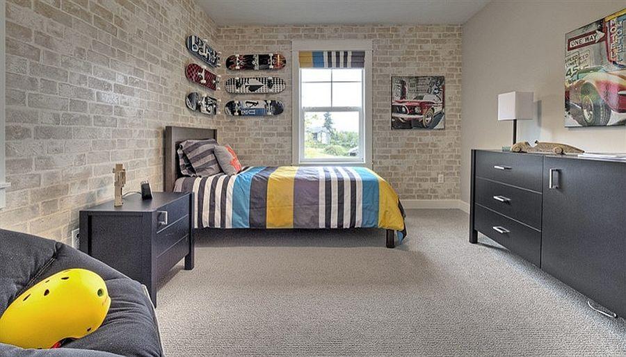 παιδικά δωμάτια με τοίχους από τούβλα18