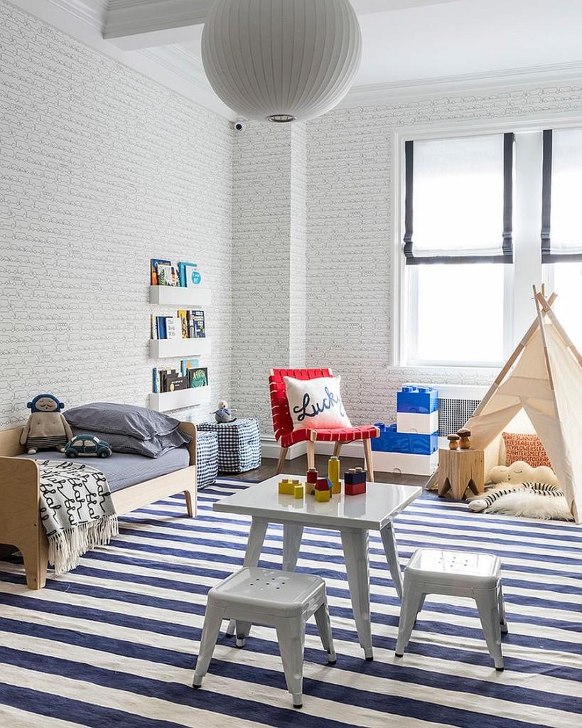 παιδικά δωμάτια με τοίχους από τούβλα19