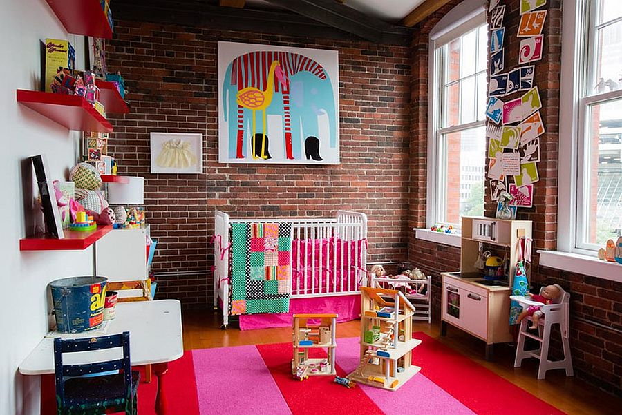 παιδικά δωμάτια με τοίχους από τούβλα21