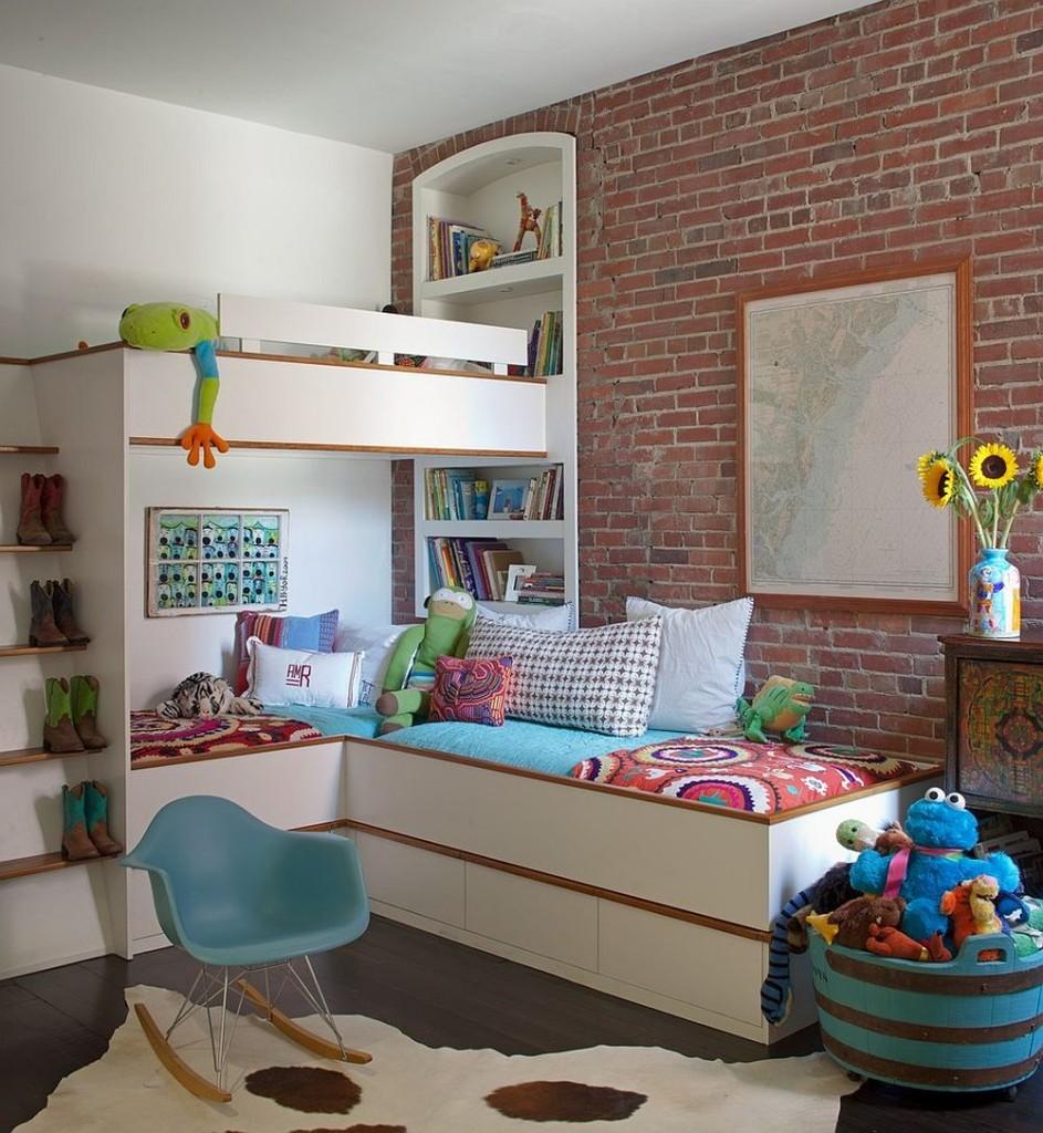 παιδικά δωμάτια με τοίχους από τούβλα22