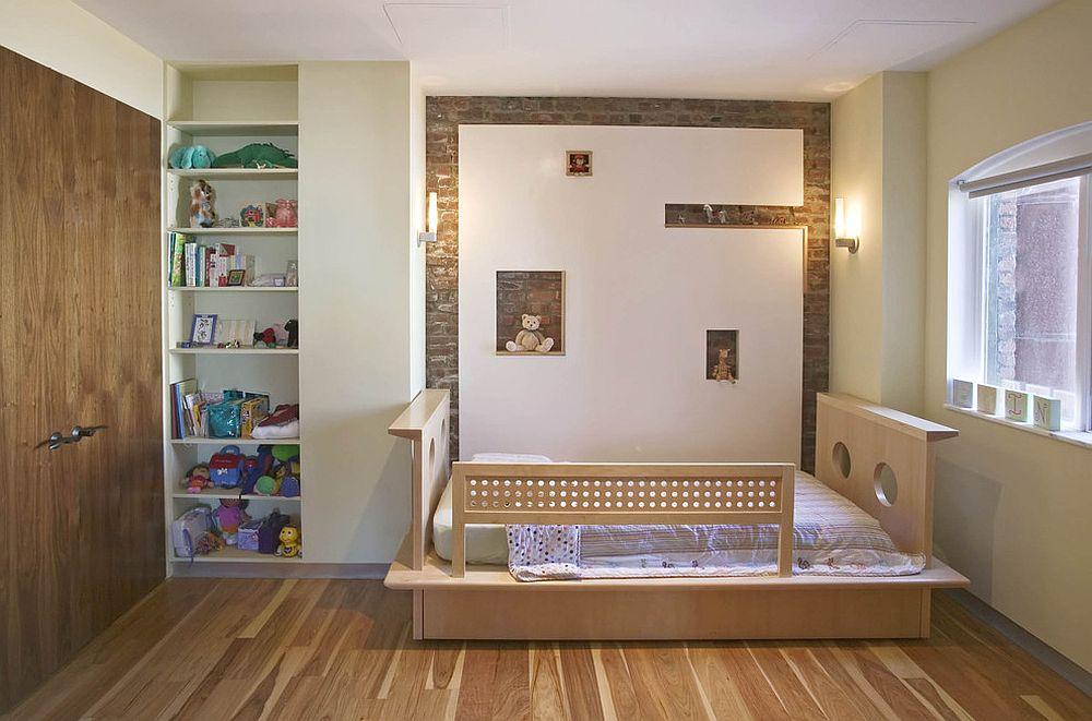 παιδικά δωμάτια με τοίχους από τούβλα24