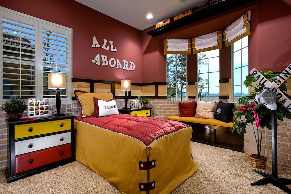 παιδικά δωμάτια με τοίχους από τούβλα4