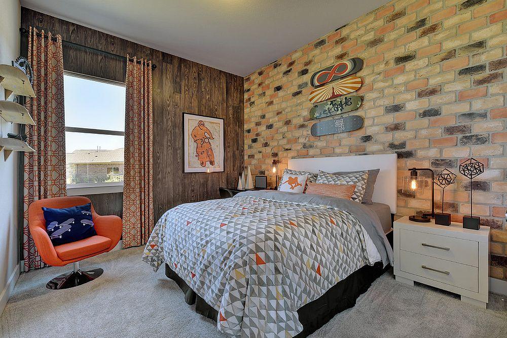 παιδικά δωμάτια με τοίχους από τούβλα5