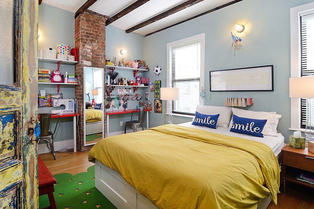 παιδικά δωμάτια με τοίχους από τούβλα6