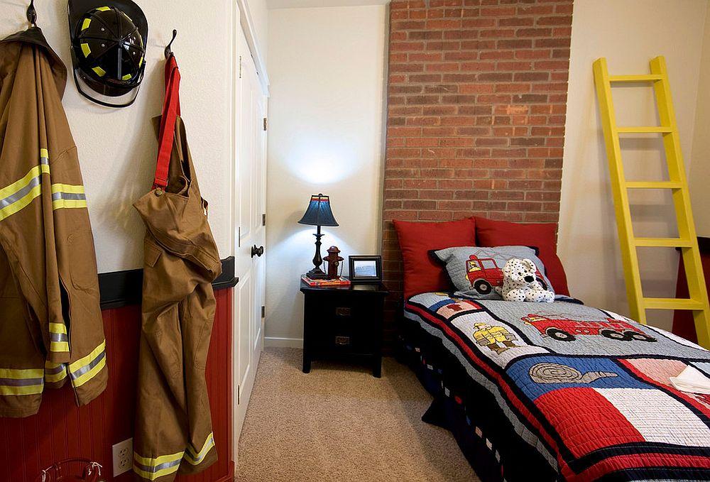 παιδικά δωμάτια με τοίχους από τούβλα8