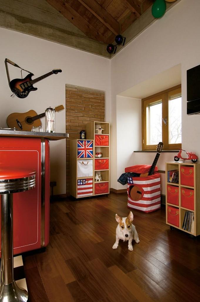 παιδικά δωμάτια με τοίχους από τούβλα9