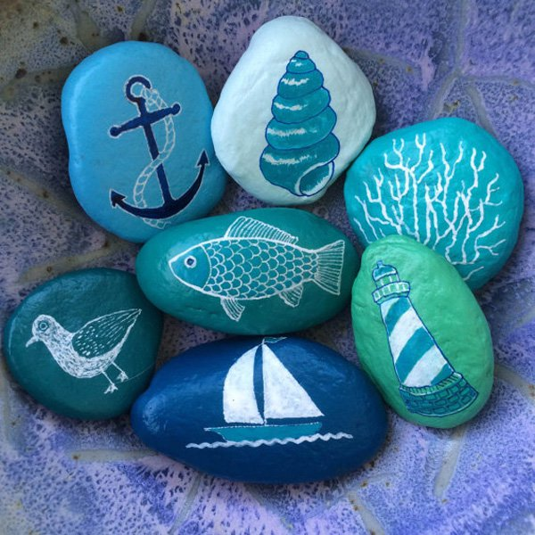 DIY ιδέες διακόσμησης με βαμμένες πέτρες και βότσαλα14