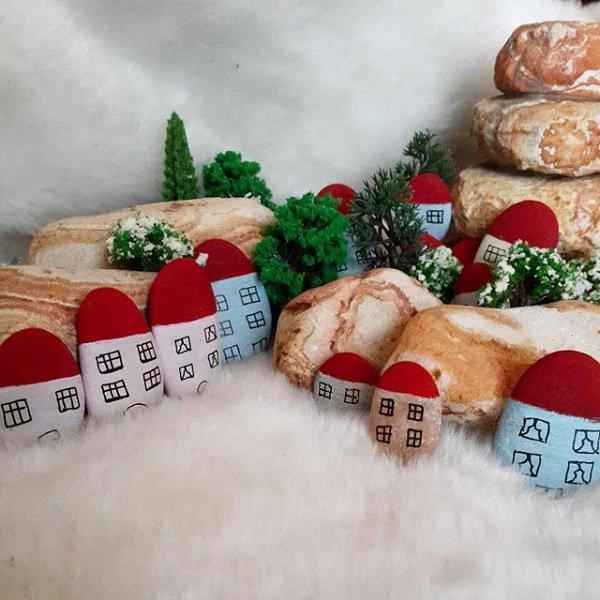 DIY ιδέες διακόσμησης με βαμμένες πέτρες και βότσαλα18