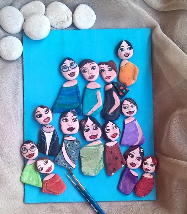 DIY ιδέες διακόσμησης με βαμμένες πέτρες και βότσαλα22