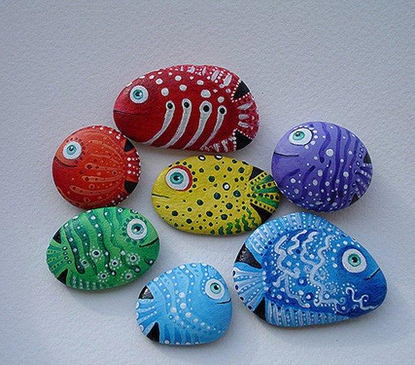 DIY ιδέες διακόσμησης με βαμμένες πέτρες και βότσαλα23